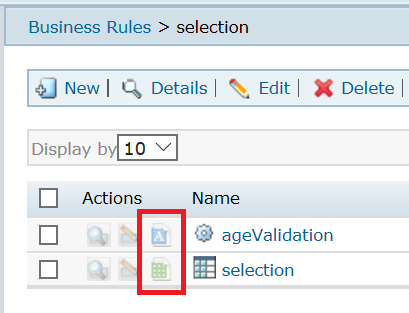 IBM ODM Decision Center Rule Solutions for Office options sample