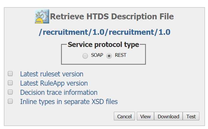ODM RPA UiPath RES HTDS View