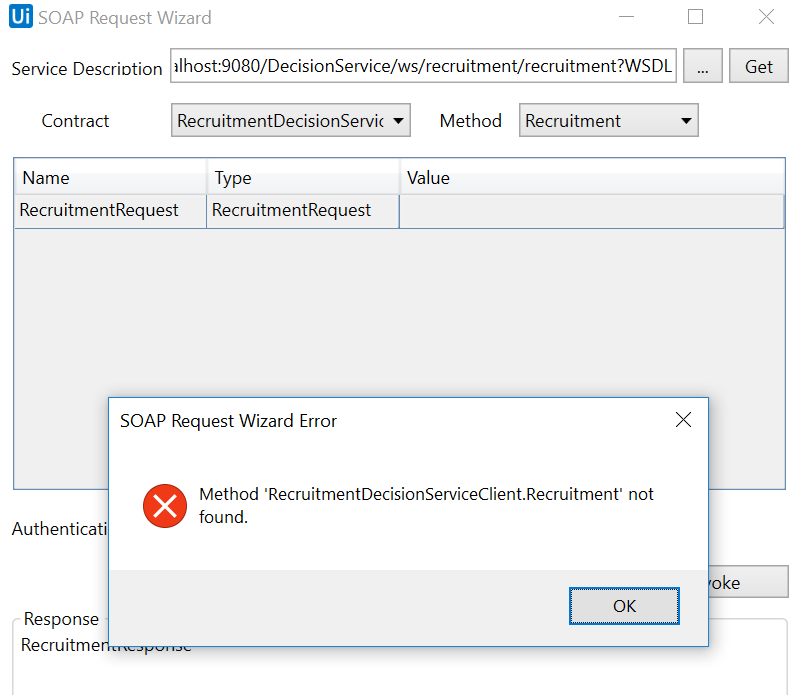 ODM RPA UiPath Studio SOAP Method ERROR