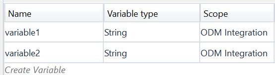ODM RPA UiPath Studio Variables